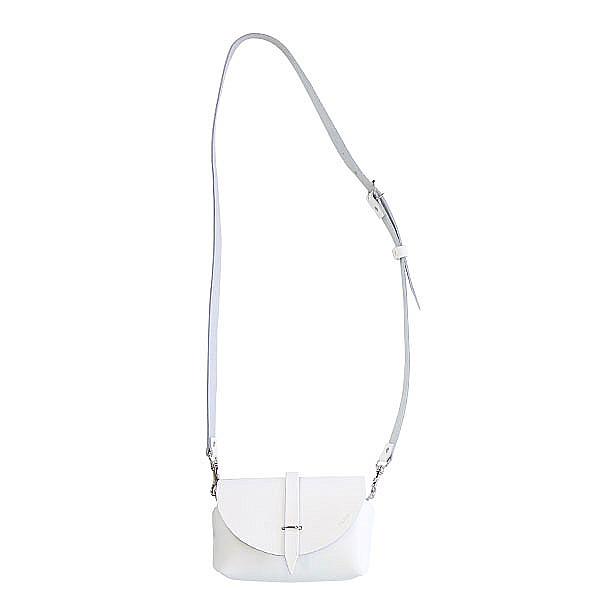 パリのバッグ レザーポシェット ホワイト