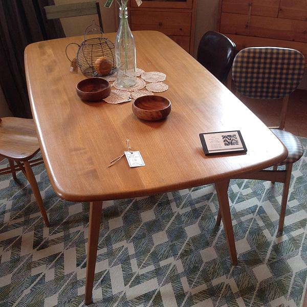 アンティーク ERCOL アーコールダイニングテーブル オーバルテーブル