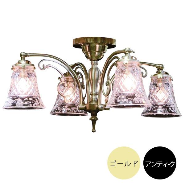 4灯照明灯具セット シーリングランプ クラシックスタイル(60Wx4灯)※電球別売