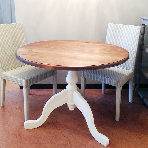 英国スタイルパイン家具 ダイニングテーブル ラウンドテーブル φ100
