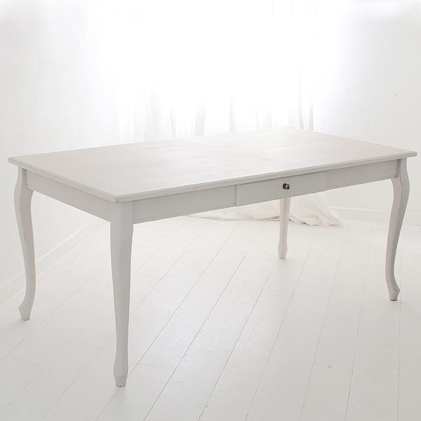 オーダー家具 ラスティック ダイニングテーブル 猫脚 〜1700×〜900×730 プロヴァンスホワイト色