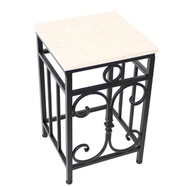 アイアンサイドテーブル 花台 天板大理石