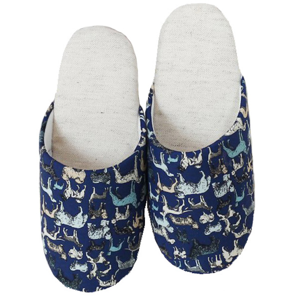 Liberty Slippers リバティプリント使用 スリッパ「Best in Show」NA色
