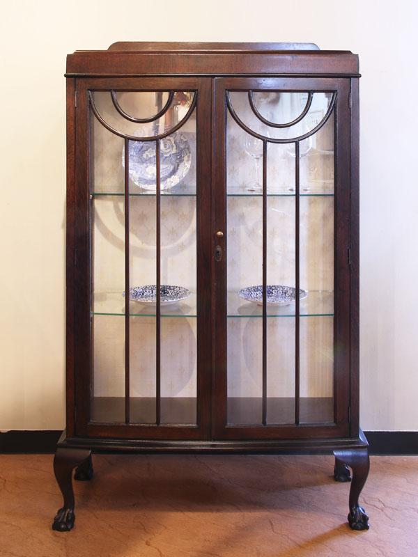 アンティーク Antique 英国アンティークガラス棚キャビネット Antique Cabinet