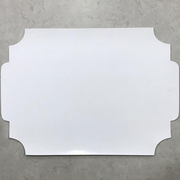 イタリア製ランチョンマット プレースマット ピュアホワイト色 2枚セット