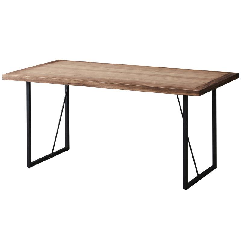 【玄関前渡送料無料-MX】LPシリーズ THE TABLE 150 ウォールナット アイアン脚 【突板天板】