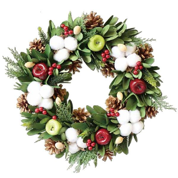 Natural Wreath ナチュラルリース コットン&グリーンアップル