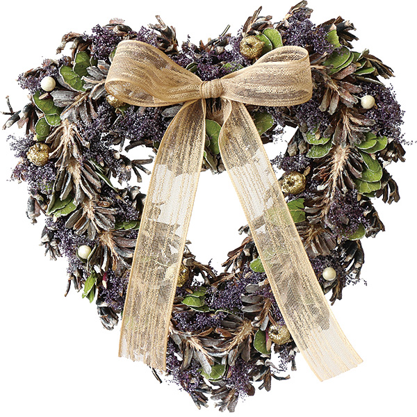 Heart Wreath ハートリース バイオレットリーフ