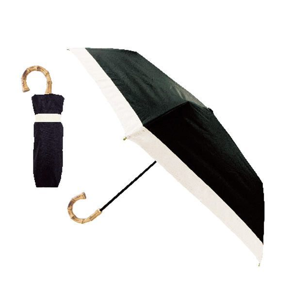 折りたたみ傘 日傘 晴雨兼用傘 ブラック