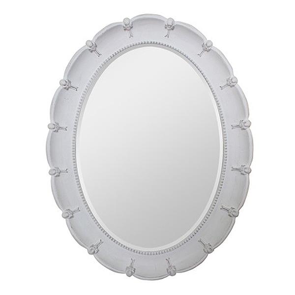 Blanc ブラン フリルミラー オーバルL stone gray色